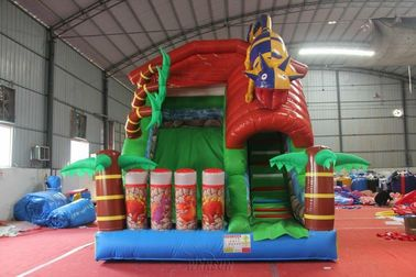 Forest Animal Theme Large Inflatable Slide Inflatable Lizard Slide Wss-257