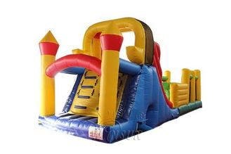 Inflatable obstacle course and slide for kids WSP-300/Sport game for children