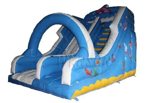 Large Commercial Inflatable Water Slides For Adults Fireproof PVC Material Made supplier