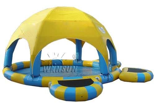 Three - Layer PVC Large Inflatable Swimming Pool Non Toxic For Water Parks supplier