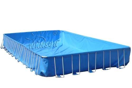 Framed Blow Up Swimming Pools , Waterproof PVC Inflatable Swimming Pool supplier