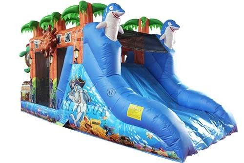 Treasure Island Inflatable Bounce House Combo WSC-277 Customized Size supplier