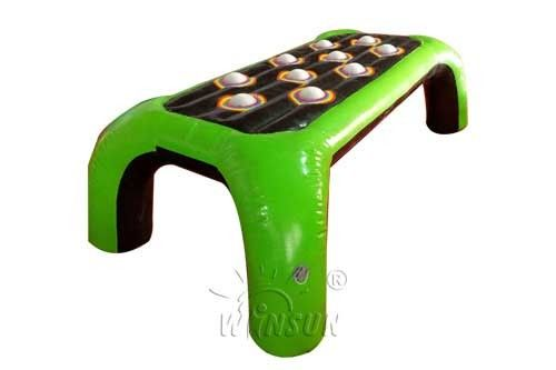 Green Color Inflatable Interactive Games Flame Retardant With 12kgs Weight supplier