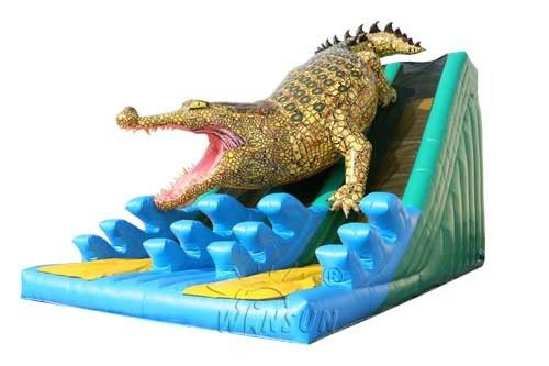 Durable Huge Inflatable Slide King Crocodile Dual Slide Eco - Friendly Wss-259 supplier