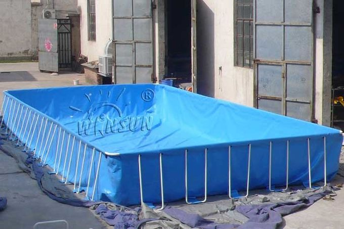 Framed Blow Up Swimming Pools , Waterproof PVC Inflatable Swimming Pool